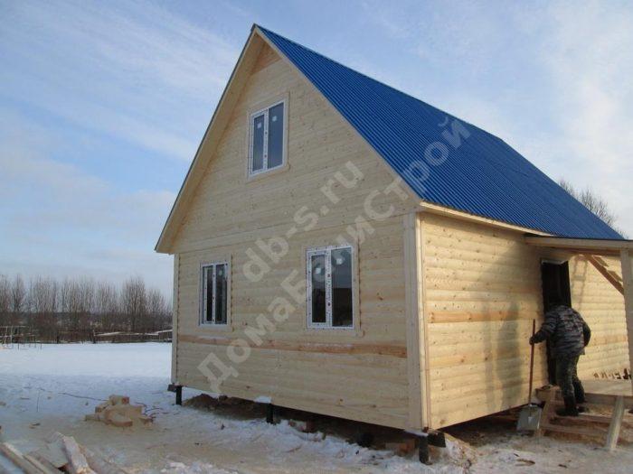 Строительство дома из бруса с мансардой 6 на 8 Волоколамск, Московская область фото 1