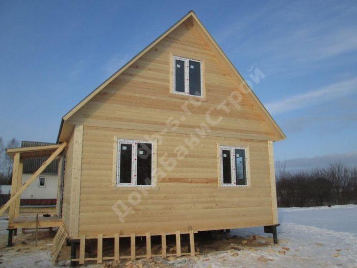 Строительство дома из бруса с мансардой 6 на 8 Волоколамск, Московская область фото 2