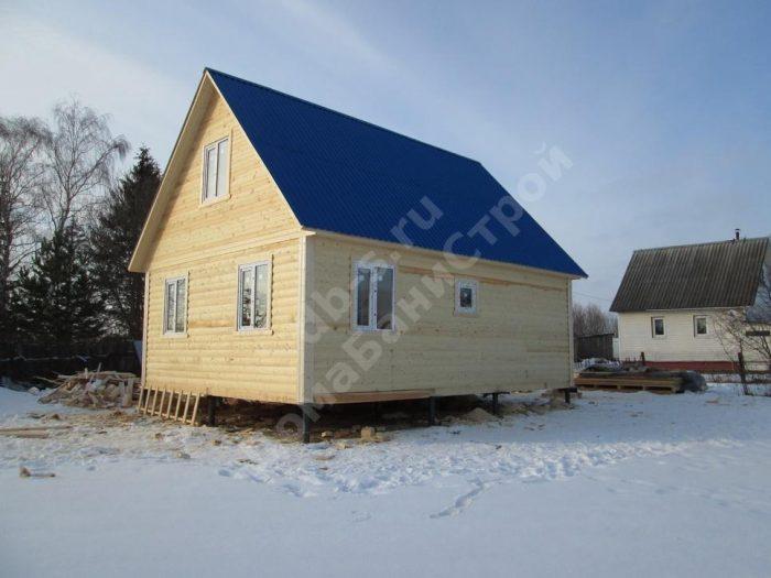 Строительство дома из бруса с мансардой 6 на 8 Волоколамск, Московская область фото 3
