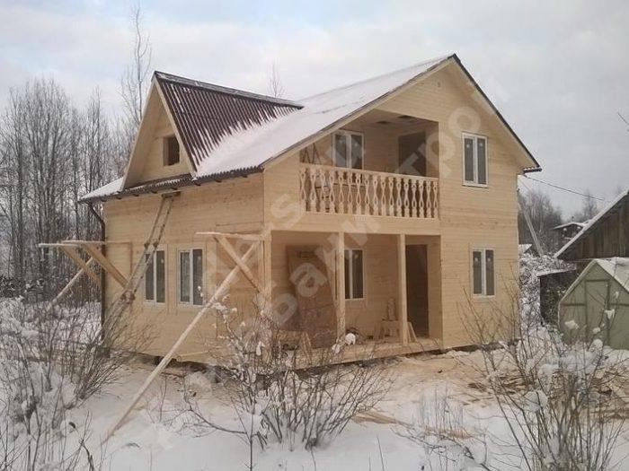 Строительство двухэтажного каркасного дома 6 на 8 Тосно, Ленинградская область, фото 1