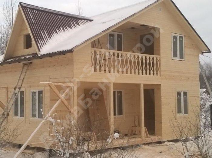 Строительство двухэтажного каркасного дома 6 на 8 Тосно, Ленинградская область, фото 2