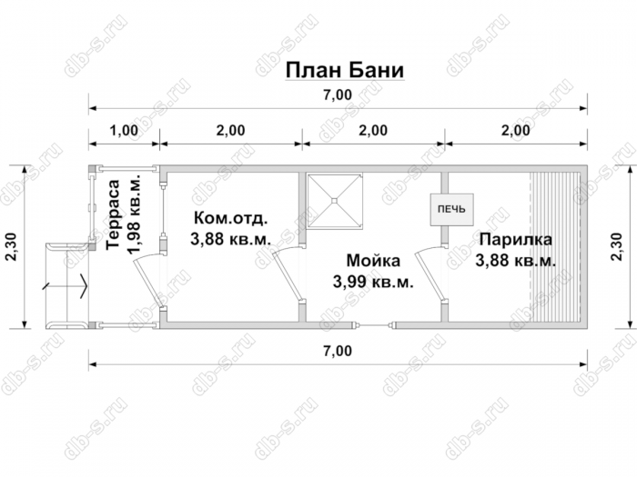 Строительство одноэтажной бани из бруса 7 на 2,3 Балашиха, Московская область фото 17