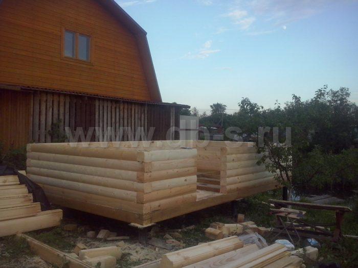 Строительство одноэтажной бани из бруса 5 на 3 Всеволожск, Ленинградская область фото 5