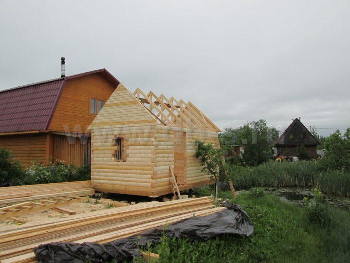 Строительство одноэтажной бани из бруса 5 на 3 Всеволожск, Ленинградская область фото 7