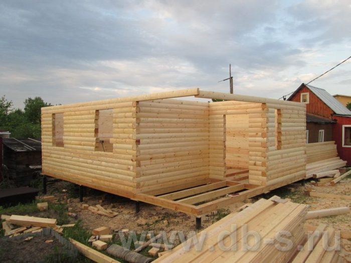 Строительство дома из бруса с мансардой 8 на 6 Всеволожский р-н, Ленинградская обл. фото 5