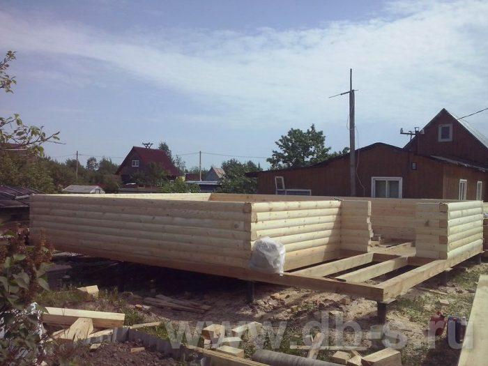 Строительство дома из бруса с мансардой 8 на 6 Всеволожский р-н, Ленинградская обл. фото 3