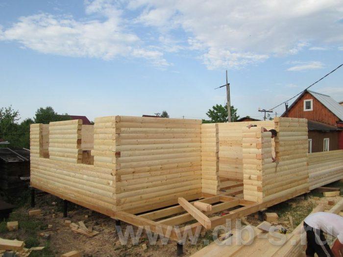 Строительство дома из бруса с мансардой 8 на 6 Всеволожский р-н, Ленинградская обл. фото 4