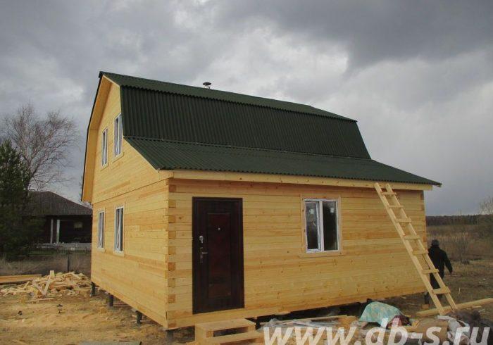 Строительство дома из бруса с мансардой 6 на 7 Дмитров, Московская область фото 2
