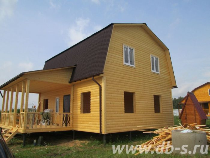 Строительство каркасного дома с мансардой 9 на 7 Таруса, Калужская область фото 1