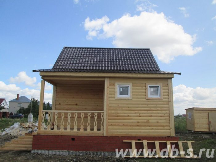 Строительство дома из бруса с мансардой 8 на 6 Саратов, Россия фото 3