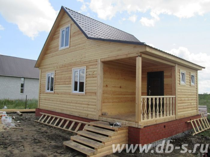 Строительство дома из бруса с мансардой 8 на 6 Саратов, Россия фото 1