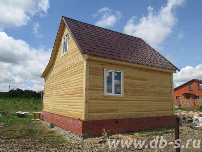 Строительство дома из бруса с мансардой 8 на 6 Саратов, Россия фото 2