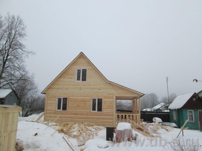 Строительство дома из бруса с мансардой 6 на 8 Краснозаводск, Московская область фото 1