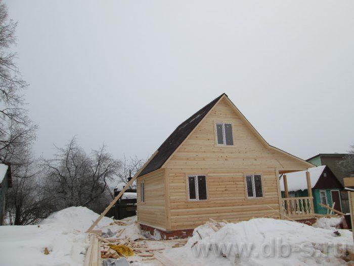 Строительство дома из бруса с мансардой 6 на 8 Краснозаводск, Московская область фото 2