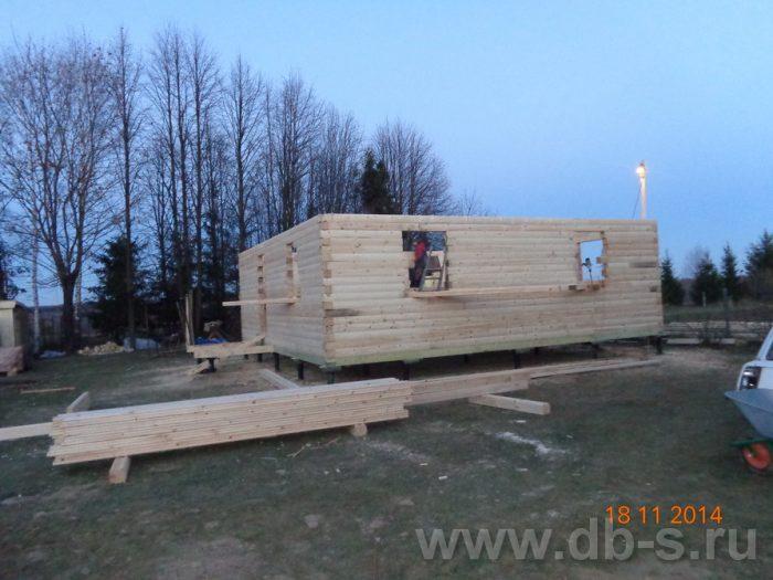 Строительство двухэтажного дома из бруса 8 на 8 Сосновый Бор, Ленинградская область фото 9