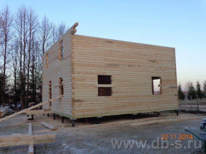 Строительство двухэтажного дома из бруса 8 на 8 Сосновый Бор, Ленинградская область фото 11