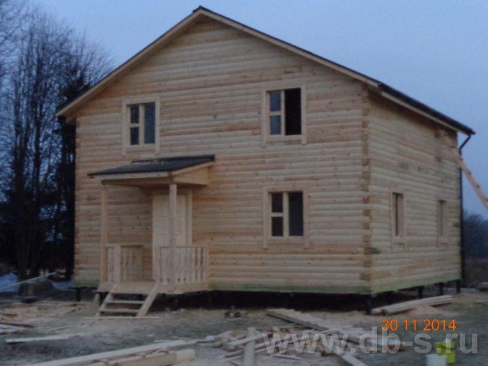 Строительство двухэтажного дома из бруса 8 на 8 Сосновый Бор, Ленинградская область фото 1