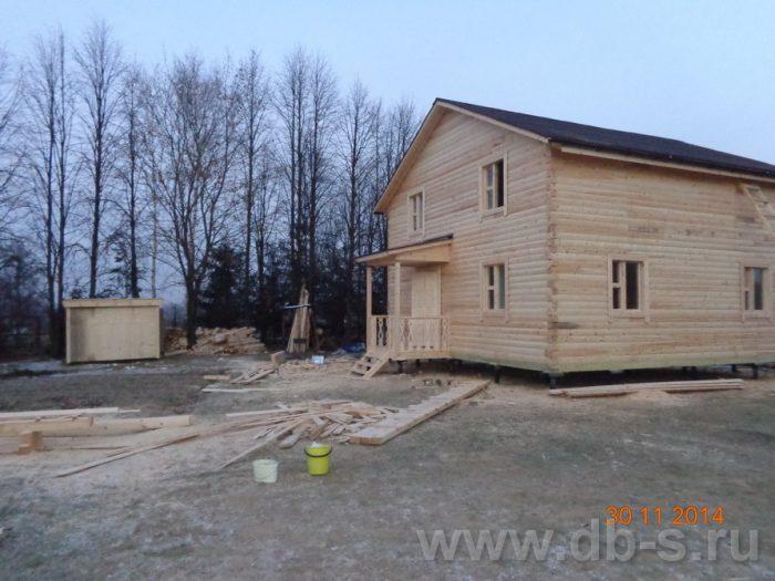 Строительство двухэтажного дома из бруса 8 на 8 Сосновый Бор, Ленинградская область фото 13
