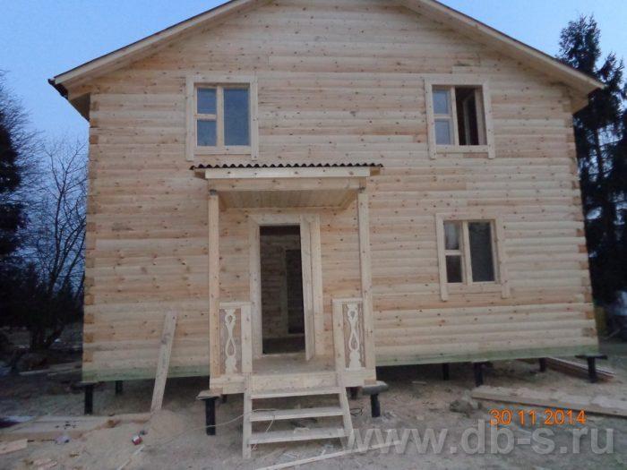 Строительство двухэтажного дома из бруса 8 на 8 Сосновый Бор, Ленинградская область фото 20