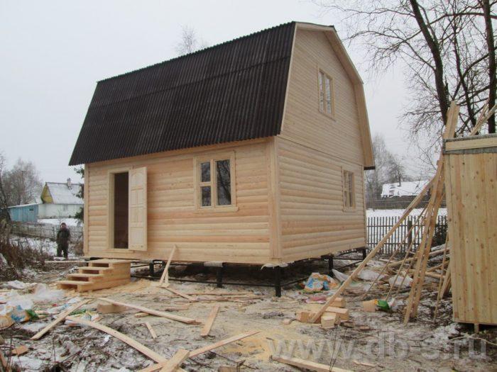 Строительство дома из бруса с мансардой 6 на 6 Серпухов, Московская область фото 1