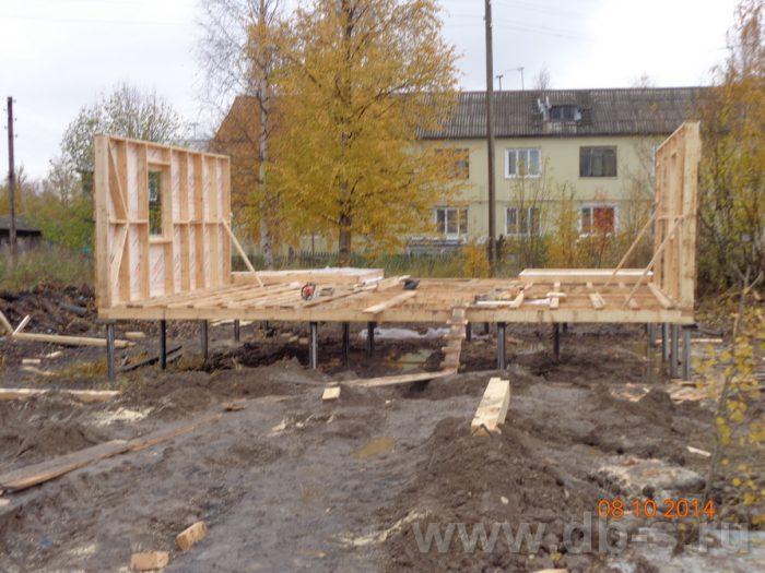 Строительство двухэтажного каркасного дома 8 на 8 Кашира, Московская область фото 3