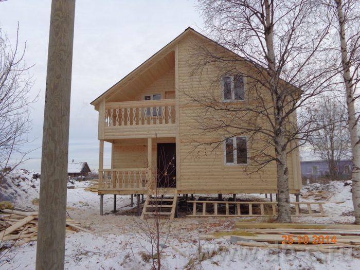 Строительство двухэтажного каркасного дома 8 на 8 Кашира, Московская область фото 1