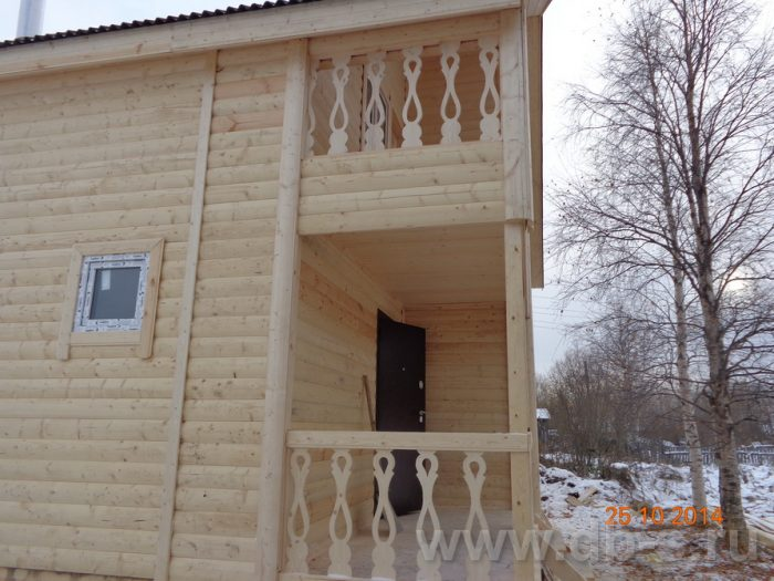 Строительство двухэтажного каркасного дома 8 на 8 Кашира, Московская область фото 11