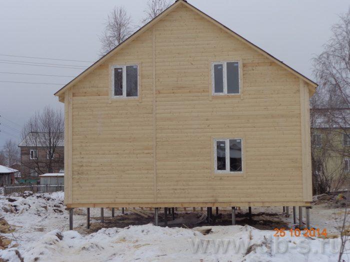 Строительство двухэтажного каркасного дома 8 на 8 Кашира, Московская область фото 12